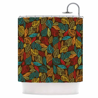 Leaves All Around Shower Curtain