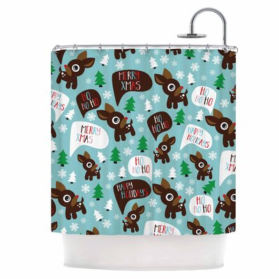 Cheerful Reindeer Shower Curtain
