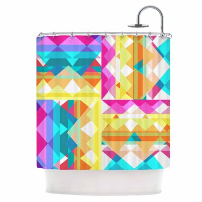 Triangle Checker Shower Curtain