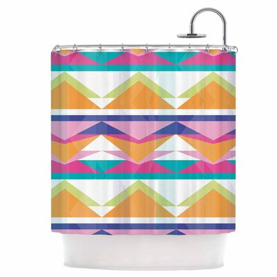 Triangle Waves Shower Curtain