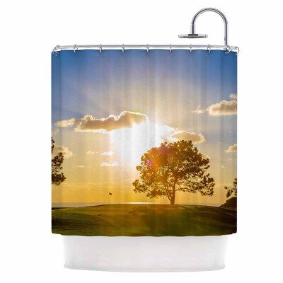 Approach Shot Shower Curtain