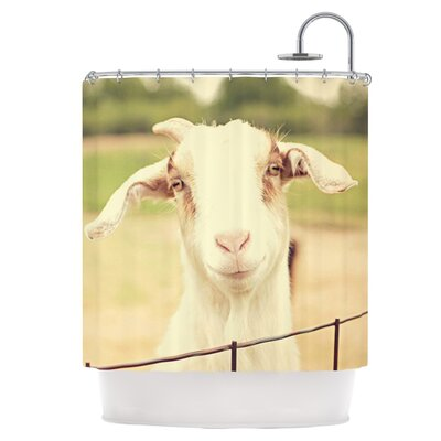 Happy Goat Shower Curtain