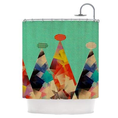 Rainbow Peaks Shower Curtain