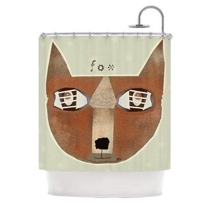 Fox Face Shower Curtain