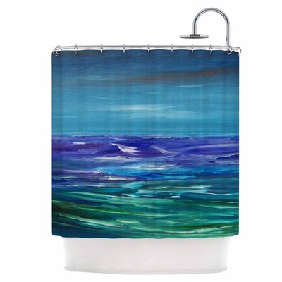 Moonlit Waves Shower Curtain