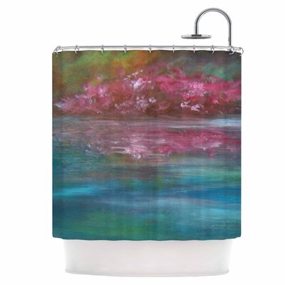 Boungainvillea Reflections Shower Curtain