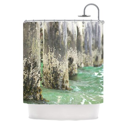 Saltwater Pylons Shower Curtain