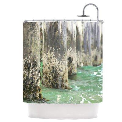 Saltwater Pylons Shower Curtain
