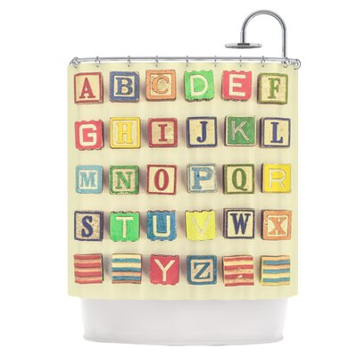 Vintage ABCs Shower Curtain