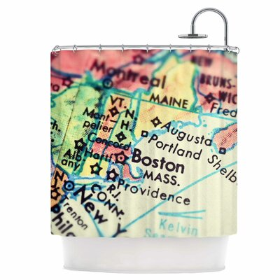 Boston on The Time Shower Curtain