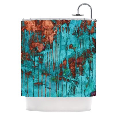 Rusty Teal Shower Curtain