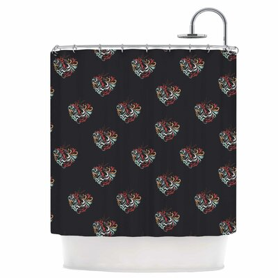 Ornament Heart Shower Curtain
