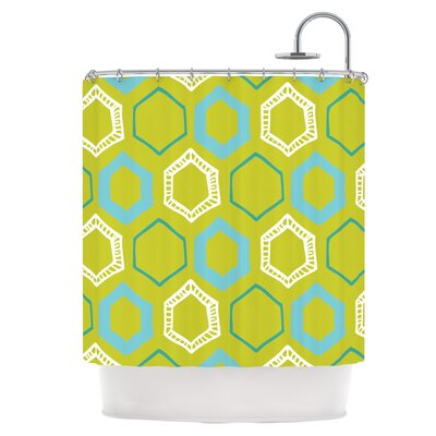 Hexy Lime Shower Curtain