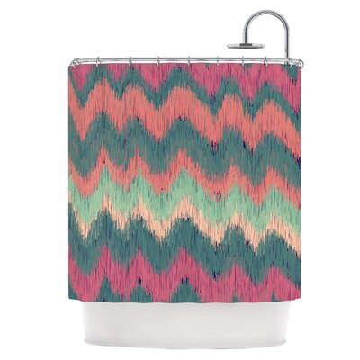Ikat Chevron Shower Curtain