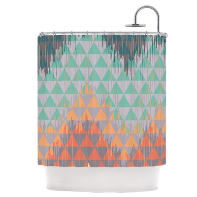 Ikat Geometrie Shower Curtain