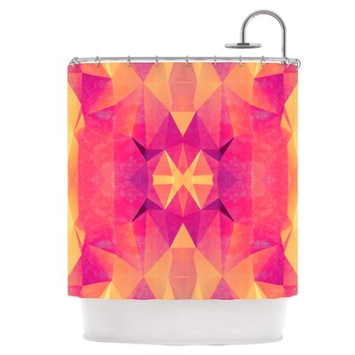 Retro Pink Geometrie Shower Curtain