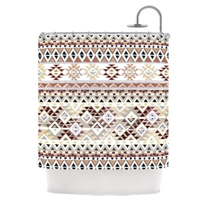 Tribal Native in Pastel Brown Shower Curtain