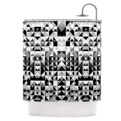 Geometrie Black & White Shower Curtain