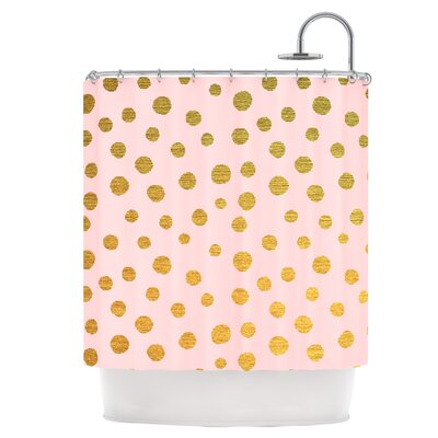 Golden Dots Shower Curtain