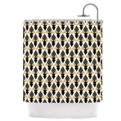 Glitter Triangles Shower Curtain