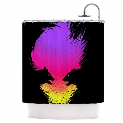 Wild Faces Shower Curtain