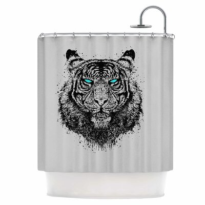 Tiger Gaze Shower Curtain