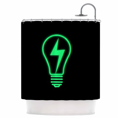 Thunder Bulb Shower Curtain