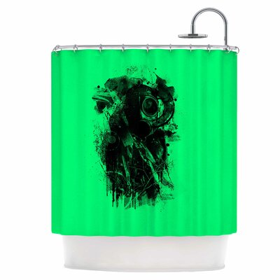 Gasmask Shower Curtain