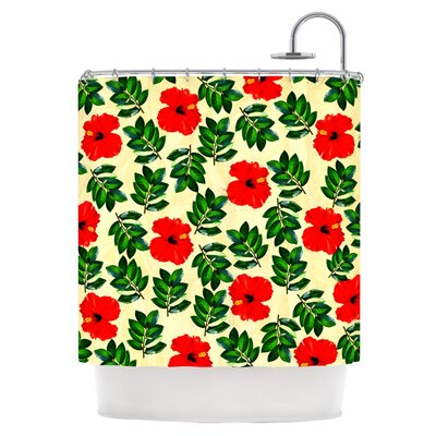 No More Peonies Shower Curtain
