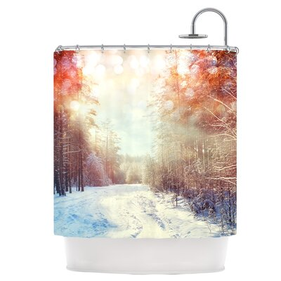 Winter Walkway Snowy Shower Curtain