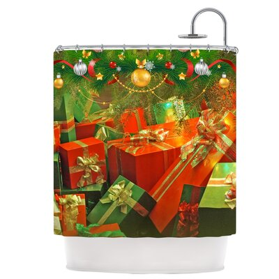 Wrapped in Cheer Presents Shower Curtain