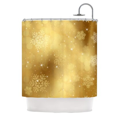 Golden Radiance Shower Curtain