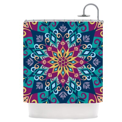 Blooming Mandala Shower Curtain