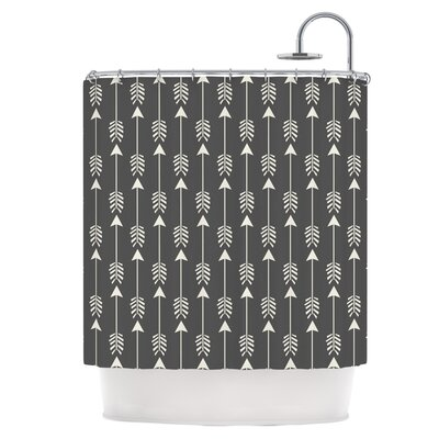 Tribal Arrows Dark Gray Shower Curtain