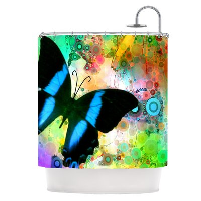 Colorful Blue Shower Curtain