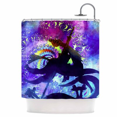 Midnight Horse Shower Curtain