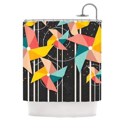 Colorful Pinwheels Shower Curtain