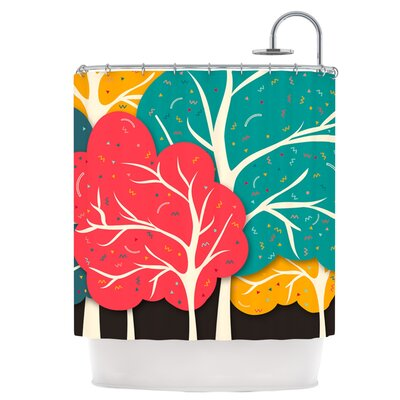 Happy Forest Shower Curtain