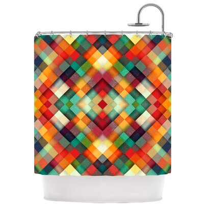 Time Between Shower Curtain