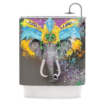 My Elephant with Headdress Shower Curtain