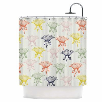 Rainbow Poppies Shower Curtain