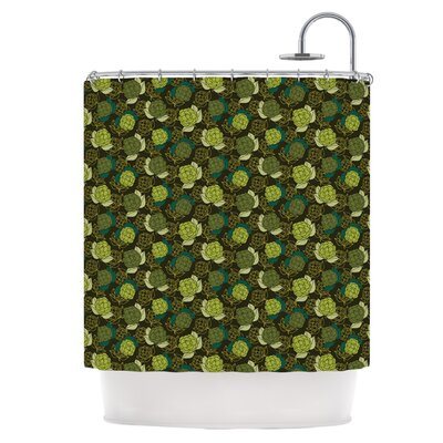 Camillia Dark Shower Curtain
