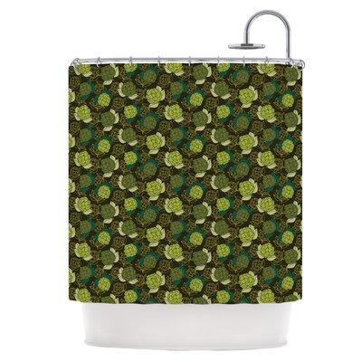 Camillia Dark Shower Curtain