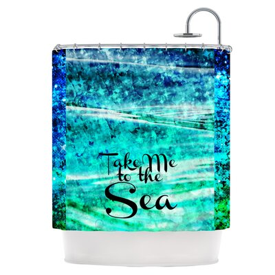 Take Me to the Sea Shower Curtain