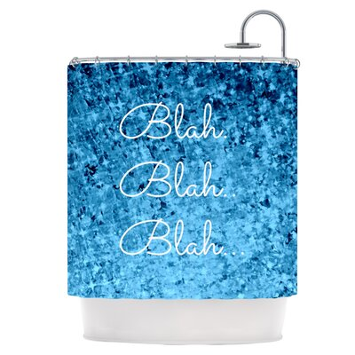 Blah Blah Blah Shower Curtain
