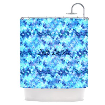 Cest La Vie Revisited Shower Curtain