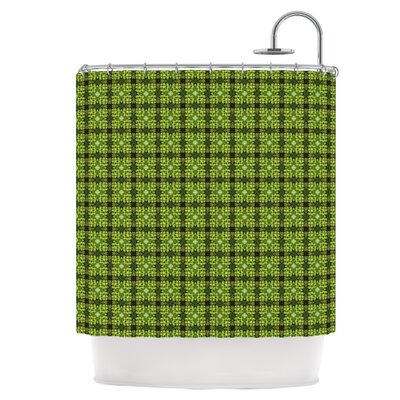 Floral Green Shower Curtain