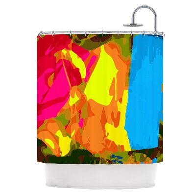 Colored Plastic Shower Curtain