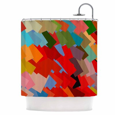 Playful Rectangles Shower Curtain