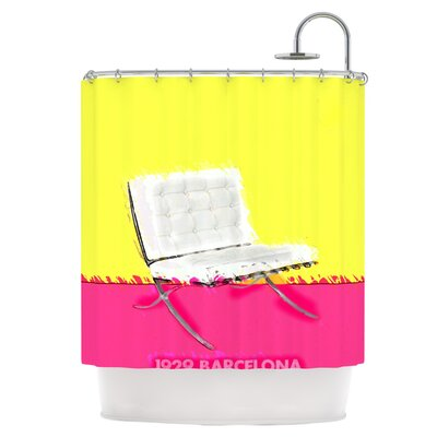 Barcelona Chair Shower Curtain